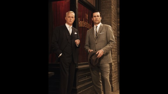 """Roger and Don in season 3 of """"Mad Men,"""" set in 1963."""