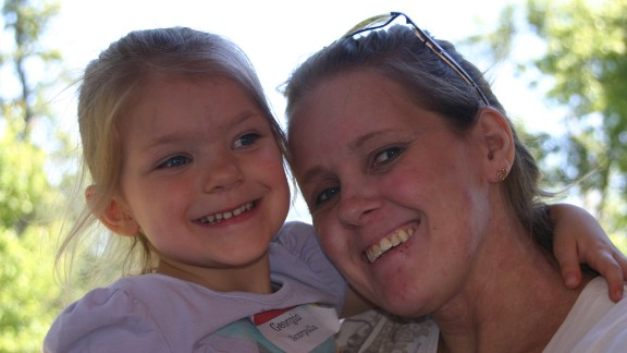 Tracy Scarpulla with her daughter, Georgia