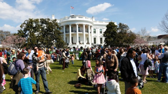 People enjoy the festivities at the White House Easter Egg Roll.