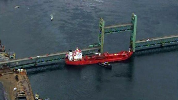 A disabled tanker ship collided with a bridge linking Portsmouth, New Hampshire, and Kittery, Maine.