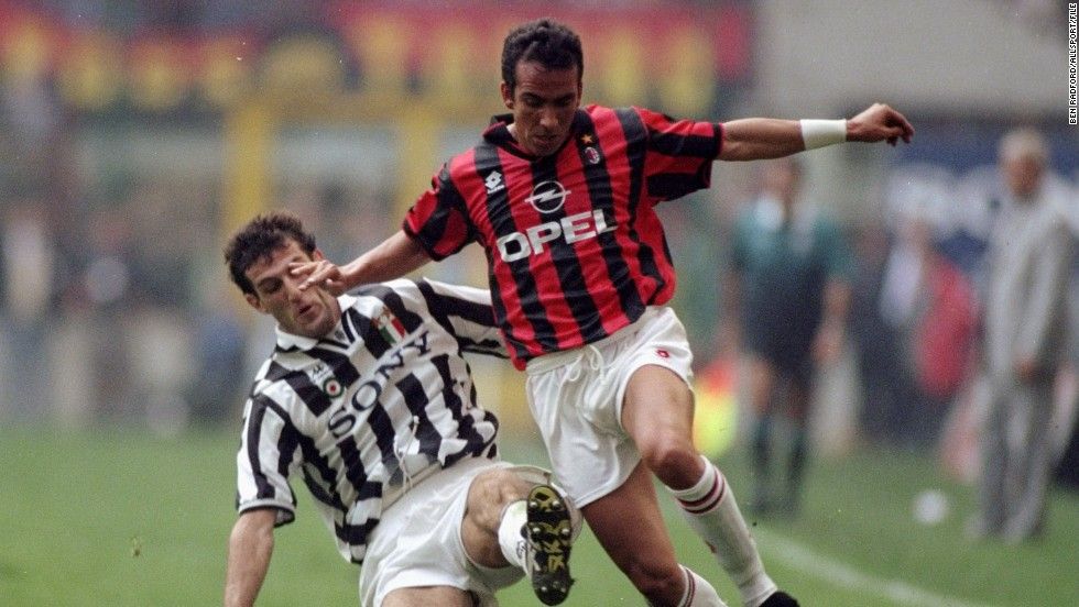 He never represented his country at senior level, but Di Canio played for top Serie A sides Juventus and AC Milan beore moving to Britain.