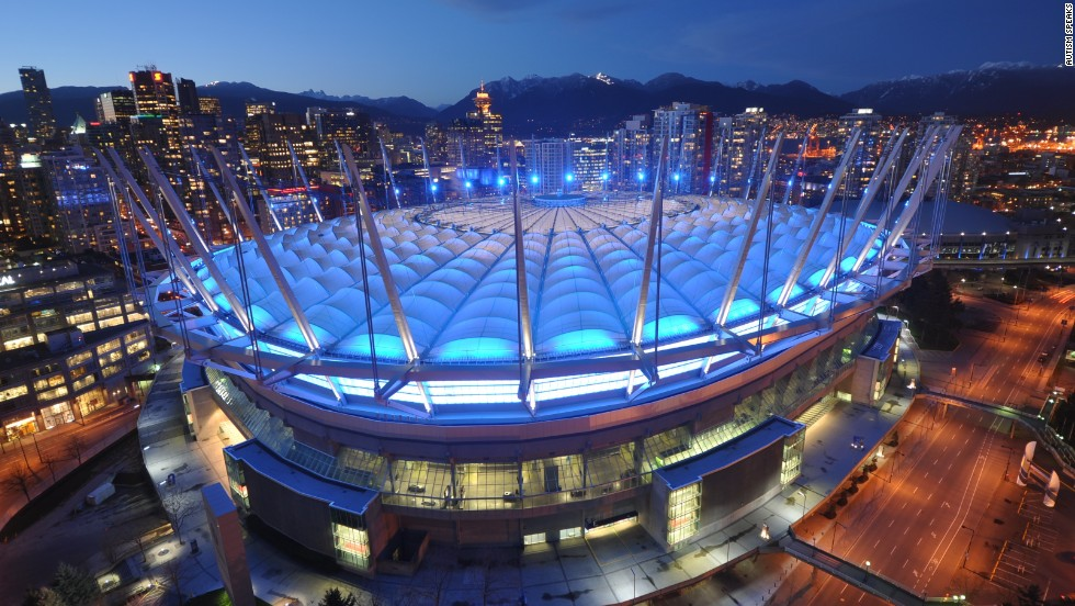 World Autism Awareness Day is Tuesday, April 2, and in commemoration, more than 7,000 landmarks and buildings in 90 countries will be bathed in blue light to draw attention to the cause, according to Autism Speaks' Light It Up Blue campaign. Here, BC Place Stadium in Vancouver, Canada, lights up for the 2012 World Autism Day.