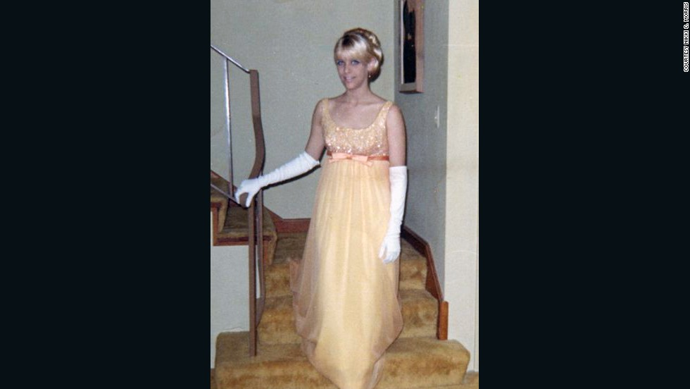 "<a href=""http://ireport.cnn.com/docs/DOC-947808"">Nikki C. Morris</a> wore a yellow dress and white gloves for her prom in 1967, but she says '60s fashion was too colorful for her taste. ""I remember thinking that most of the dresses and the girls wearing them looked like Easter eggs,"" Morris says. ""I wasn't a fan."""