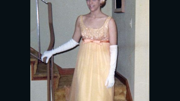 1967: Nikki C. Morris wore a yellow dress and white gloves for her prom, but she says