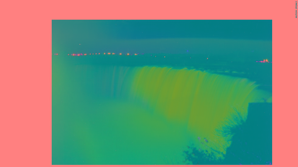 The Canadian side of Niagara Falls lights up blue for the 2012 World Autism Awareness Day.