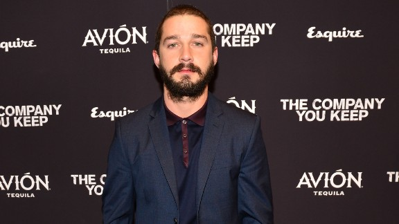 Shia LaBeouf attends the New York premiere of 'The Company You Keep' on April 1, 2013.