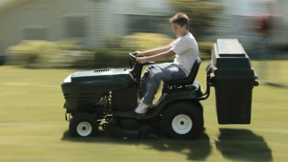 You get paid to landscape, right? Don't you know you're supposed to ask all the neighbors for their children's nap times before you mow?