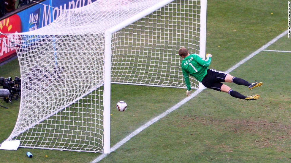 It was only after the 2010 World Cup that football's world governing body FIFA recognized the need for change. Here Manuel Neuer of Germany watches the ball bounce over the line from a shot that hit the crossbar from Frank Lampard of England, but referee Jorge Larrionda did not award a goal.