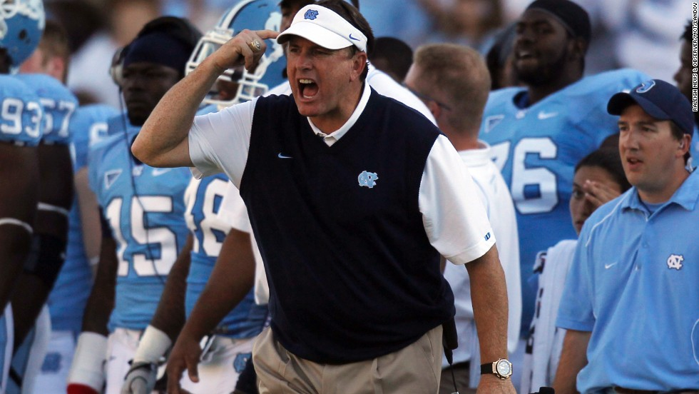 University of North Carolina-Chapel Hill head football coach Butch Davis was fired in July 2011 in the midst of an NCAA investigation into a cheating scandal involving tutors writing papers for players and a recruiting scandal involving players accepting impermissible benefits. In announcing the move, the university cited the damage that the controversies were causing to UNC's reputation, but Davis maintained that he himself had not done anything wrong.
