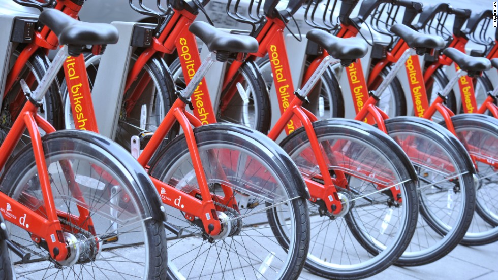 "Bicycle sharing services like <a href=""http://www.capitalbikeshare.com/"" target=""_blank"">Capital Bikeshare</a> in Washington allow short-term rentals."