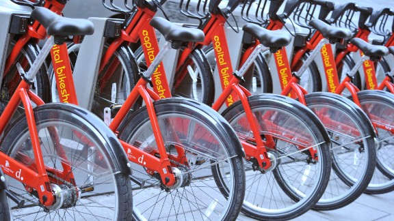 Bicycle sharing services like Capital Bikeshare in Washington allow short-term rentals.