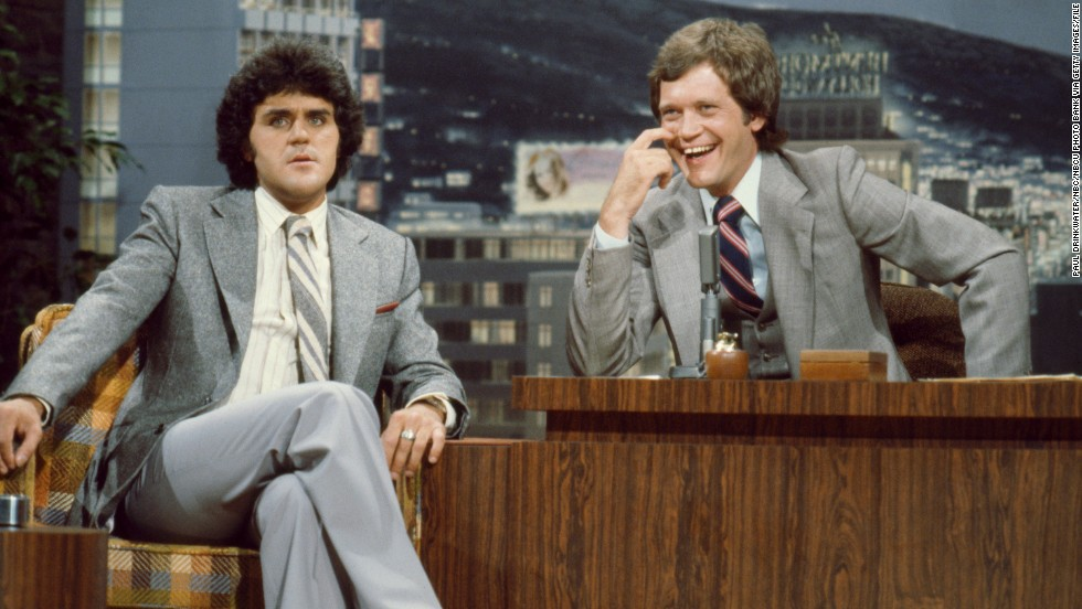 "Future late-night rivals appear together on ""The Tonight Show"" in 1979, when Letterman was a guest host for Carson."