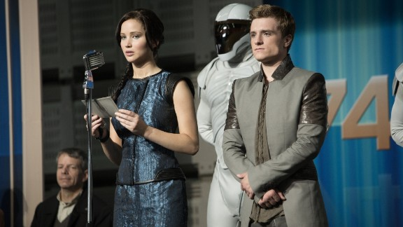 """""""The Hunger Games: Catching Fire"""" starring Jennifer Lawrence and Josh Hutcherson."""