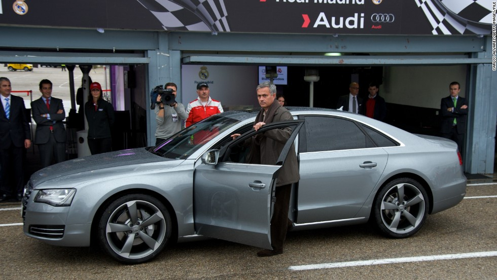 Jose Mourinho drove an Audi during his time as manager of Real Madrid. The Portuguese coach, now at Chelsea, will have to revert to right-hand drive after moving to the United Kingdom.