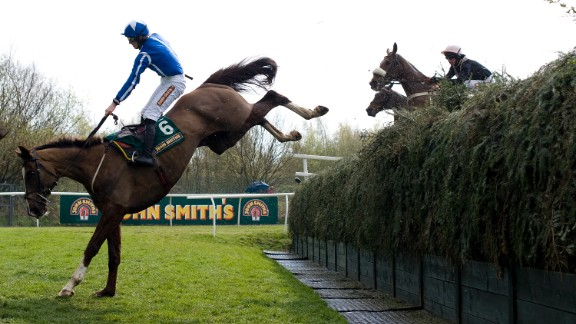 Becher's Brook is one of the toughest jumps at Aintree racecourse.