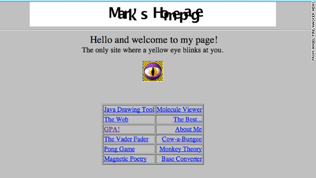 Hackers dug up this primitive website from 1999, which some believe was created by a 15-year-old Mark Zuckerberg.