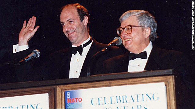 Gene Siskel and Roger Ebert  (Photo by Jeff Kravitz/FilmMagic) 1994 ShoWest