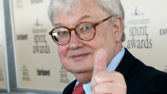 """The late """"thumbs up"""" film critic Roger Ebert"""