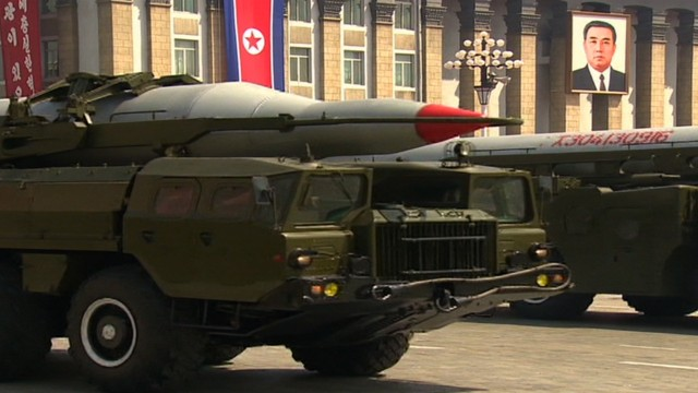 image of North Koreas military hardware displayed in Pyongyang on the 15th of April 2012. the parade was to celebrate the birth of North Korean founder Kim Ill Sung.