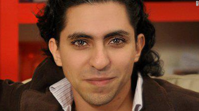This photo of Saudi activist Raif Badawi is taken from his Facebook Page.