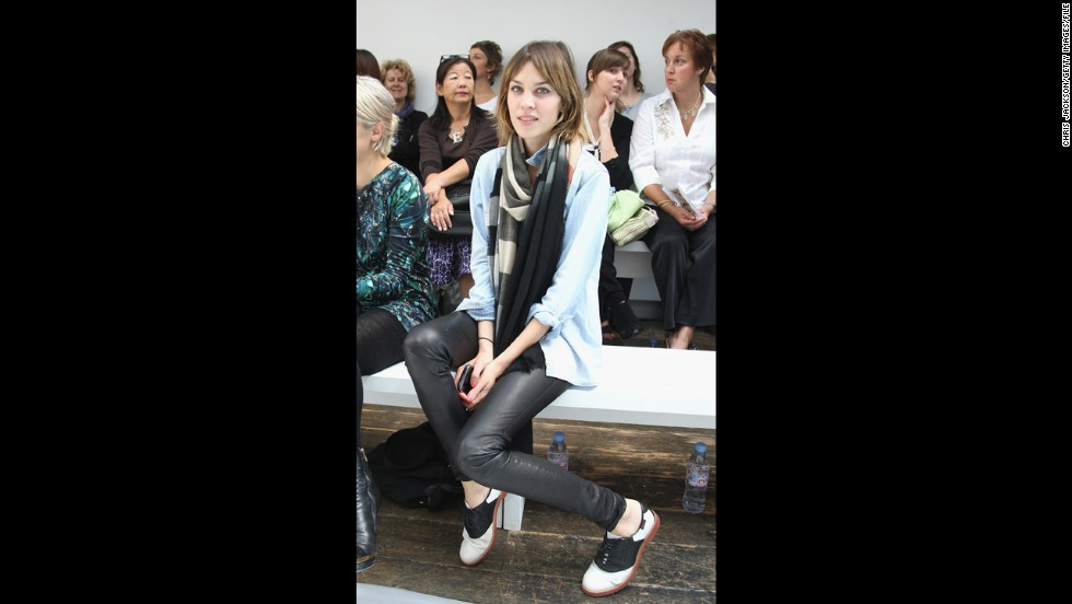 "British model, TV host and fashion muse Alexa Chung's penchant for pairing brogues and baby-doll dresses has earned praise from the likes of Anna Wintour, Karl Largerfeld and others who consider the 28-year-old the Kate Moss of her generation. She has inspired Mulberry handbags and helped design a collection for Madewell. ""All of my beauty icons are men,"" she said in <a href=""http://www.nytimes.com/2010/11/28/fashion/28ALEXA.html?_r=2&"" target=""_blank"">a New York Times story</a>. ""It's all about effortlessness. It's all about looking underdone."""