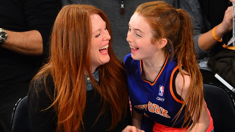 Julianne Moore's daughter, Liv Helen, was born in April 2002. Moore was 41 at the time. Her son, Caleb, was born in 1997.