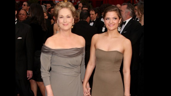 Meryl Streep gave birth to her fourth child, daughter Louisa, just before her 42nd birthday. Streep
