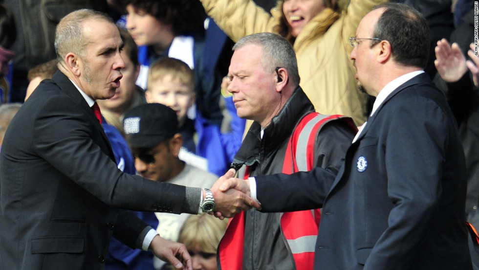 Di Canio's appointment took some of the pressure off Chelsea manager Rafael Benitez, right, who is unpopular with the club's fans due to past incidents when he was at Liverpool.