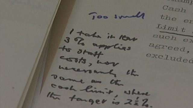 2009: Inside Margaret Thatcher's papers