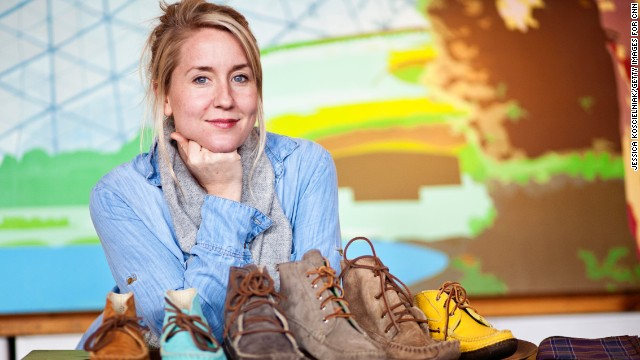Katherine McMillan was tired of women's shoes with bows and flowers, so she designed her own.