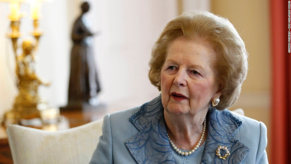 "<a href=""http://www.cnn.com/2013/04/08/world/europe/uk-margaret-thatcher-dead/index.html?hpt=hp_c2"">Former British Prime Minister Margaret Thatcher</a>, a towering figure in postwar British and world politics and the only woman to become British prime minister, died at the age of 87 on Monday, April 8."