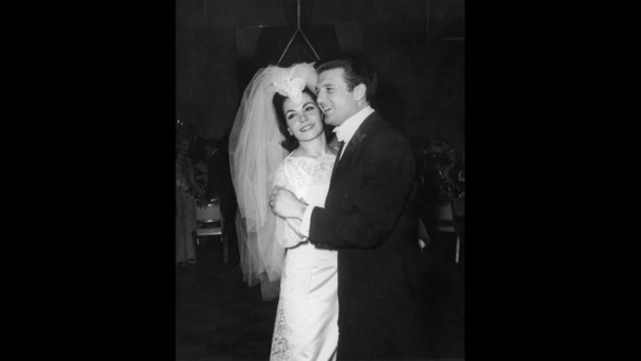 Funicello dances with her first husband, agent Jack Gilardi, at their wedding reception in 1965.