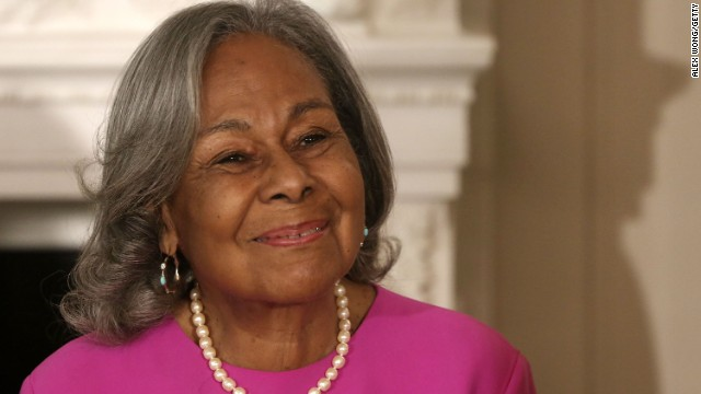 Rachel Robinson, 90, Jackie Robinson's widow, attends an event at the White House to celebrate the movie '42,' a biopic about her late husband.