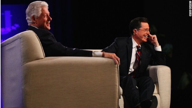 Stephen Colbert convinced former president Bill Clinton to start a Twitter account.