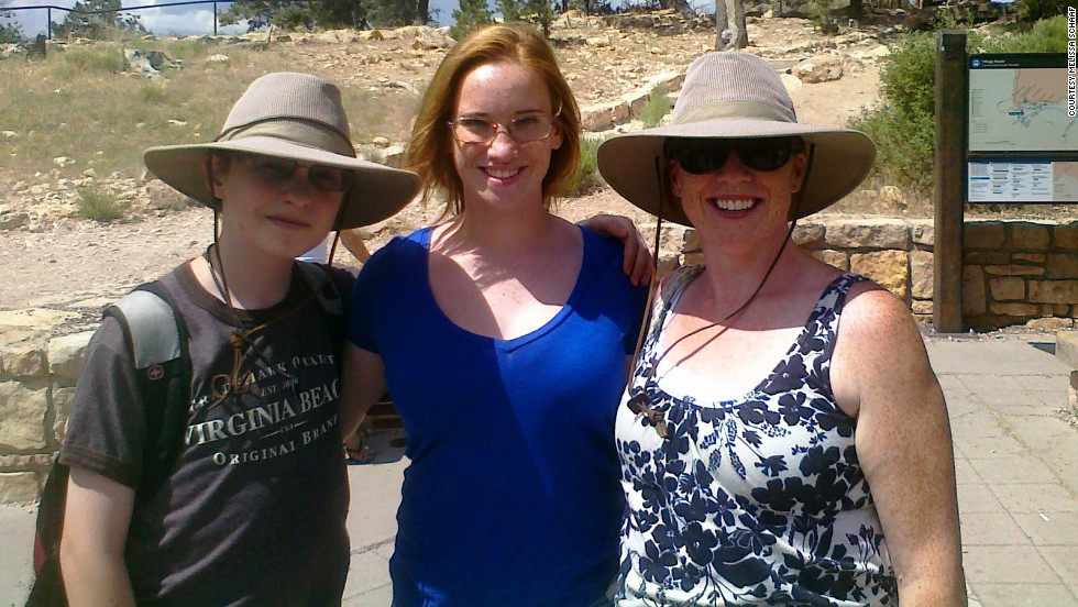 To celebrate her weight loss, Schaaf hiked in and out of the Grand Canyon with her daughter, Margaret, and son, Alex, in the summer of 2011.
