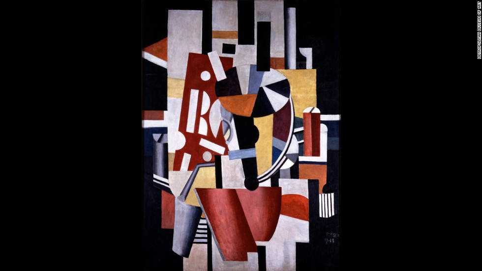 """Composition [The Typographer]"" by Fernand Léger, 1917-18."