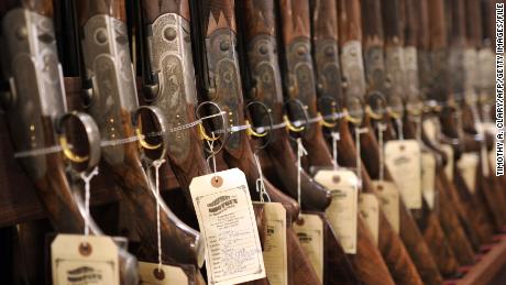 Shotguns displayed during the 8th Annual East Coast Fine Arms Show in Stamford, Connecticut January 6, 2013.  This is the first gun show in Connecticut sine the December 14 shooting that killed 20 children and six teachers from Sandy Hook Elementary School  approximatley 40 miles away in Newtown, Ct.  The gun show featured collectible and antique weapons.   AFP PHOTO / TIMOTHY A. CLARY        (Photo credit should read TIMOTHY A. CLARY/AFP/Getty Images)