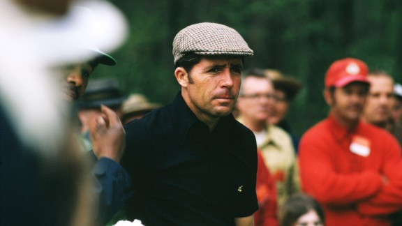 """Three-time Masters champion Gary Player earned his """"Black Knight"""" nickname because of his tendency to wear all black on the golf course. The world-class golfer is now 78, and his close-fitting, casual style is still popular among players today."""