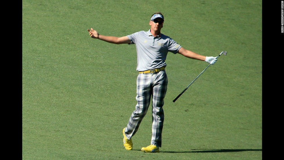 "Britain's Ian Poulter, currently ranked 20th in the world, is as passionate about fashion as he is about golf. ""What I wear on and off the course is a huge part of who I am,"" Poulter said. ""I like to be different. I always loved the old pictures of Jack Nicklaus, Payne Stewart and Johnny Miller with the flares, big collars, tartans, no pleat trousers. I thought they were cool. And they still are. My clothes make me feel good."" Poulter also runs his own clothing brand, IJP Design."