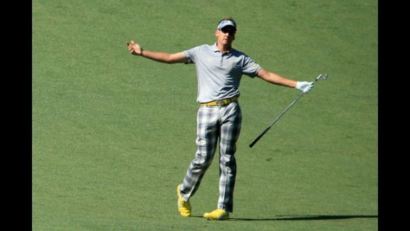 """Britain's Ian Poulter, currently ranked 20th in the world, is as passionate about fashion as he is about golf. """"What I wear on and off the course is a huge part of who I am,"""" Poulter said. """"I like to be different. I always loved the old pictures of Jack Nicklaus, Payne Stewart and Johnny Miller with the flares, big collars, tartans, no pleat trousers. I thought they were cool. And they still are. My clothes make me feel good."""" Poulter also runs his own clothing brand, IJP Design."""