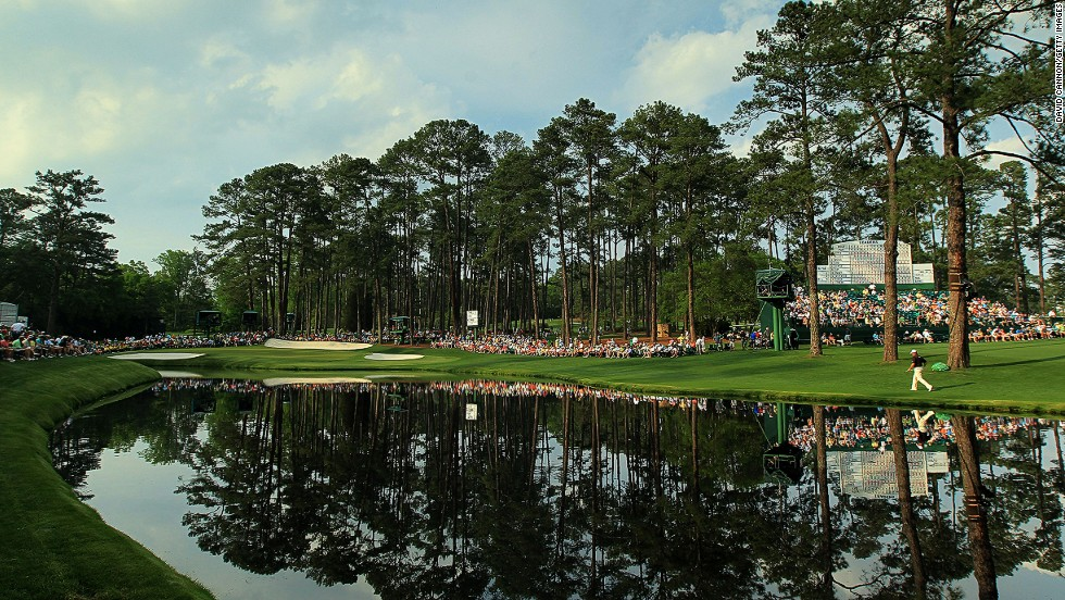 "The 16th hole, known as ""Redbud,"" was the scene of one of golf's most famous shots when Tiger Woods holed an incredible chip-in from off the green to claim the 2005 Masters and his fourth Green Jacket."