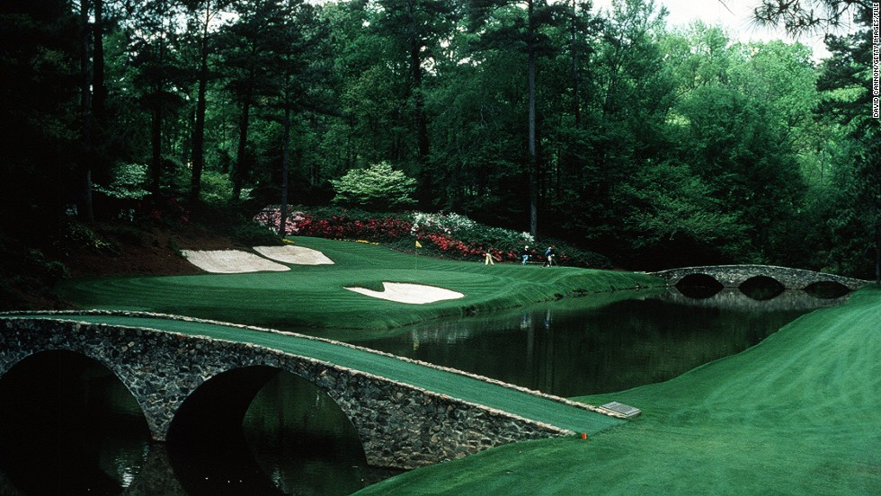 "The ""Amen Corner"" name was first used in 1958 by author Herbert Warren Wind, and refers to the second shot at the 11th, the whole of the 12th (pictured here) and the tee shot at 13."