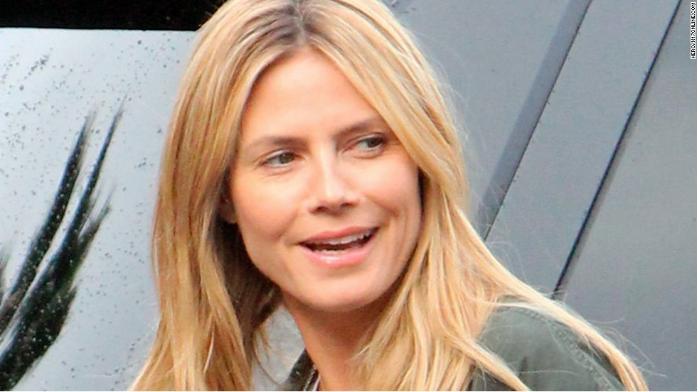 Natural beauty Heidi Klum spends time with her kids in Los Angeles on January 27.