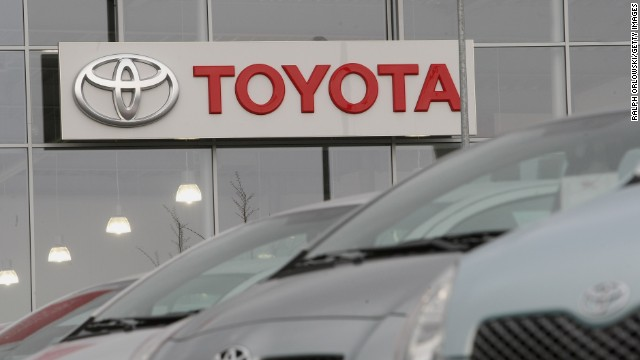 Toyota cars are offered for sale at a car dealership on December 22, 2008 in Wiesbaden, Germany.