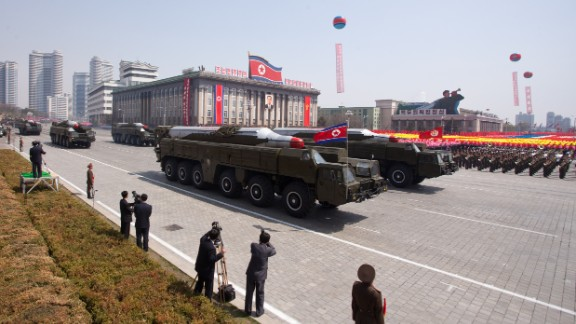 The Musudan is an intermediate-range missile with a strike range of 2,500 to 4,000 kilometres (1,553 to 2,485 miles).