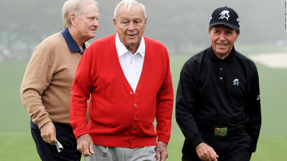 Nicklaus, Palmer and Player have been given the accolade of 'honorary starters' at the U.S. Masters at Augusta.