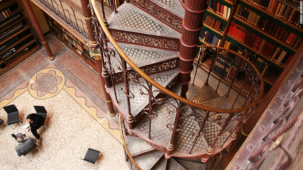 "Another highlight of the ""new"" museum is its ornate four-story library, complete with vertiginous spiral staircase, which has never been open to the public before."