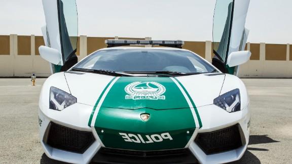 A Lamborghini Aventador is the latest addition to the Dubai Police fleet.