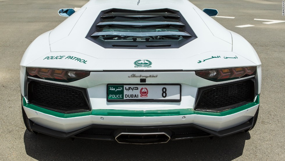 "The addition of the green and white Italian sports car, which has a special '8' numberplate, was announced via the Dubai Police Twitter account, <a href=""https://twitter.com/DubaiPoliceHQ/status/321996652095369218/photo/1"" target=""_blank"">@DubaiPolice HQ</a>."