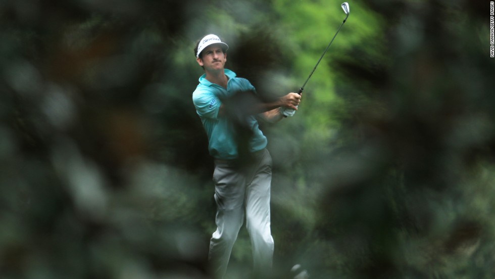 Gonzalo Fernandez-Castano of Spain hits a shot from the fifth hole.